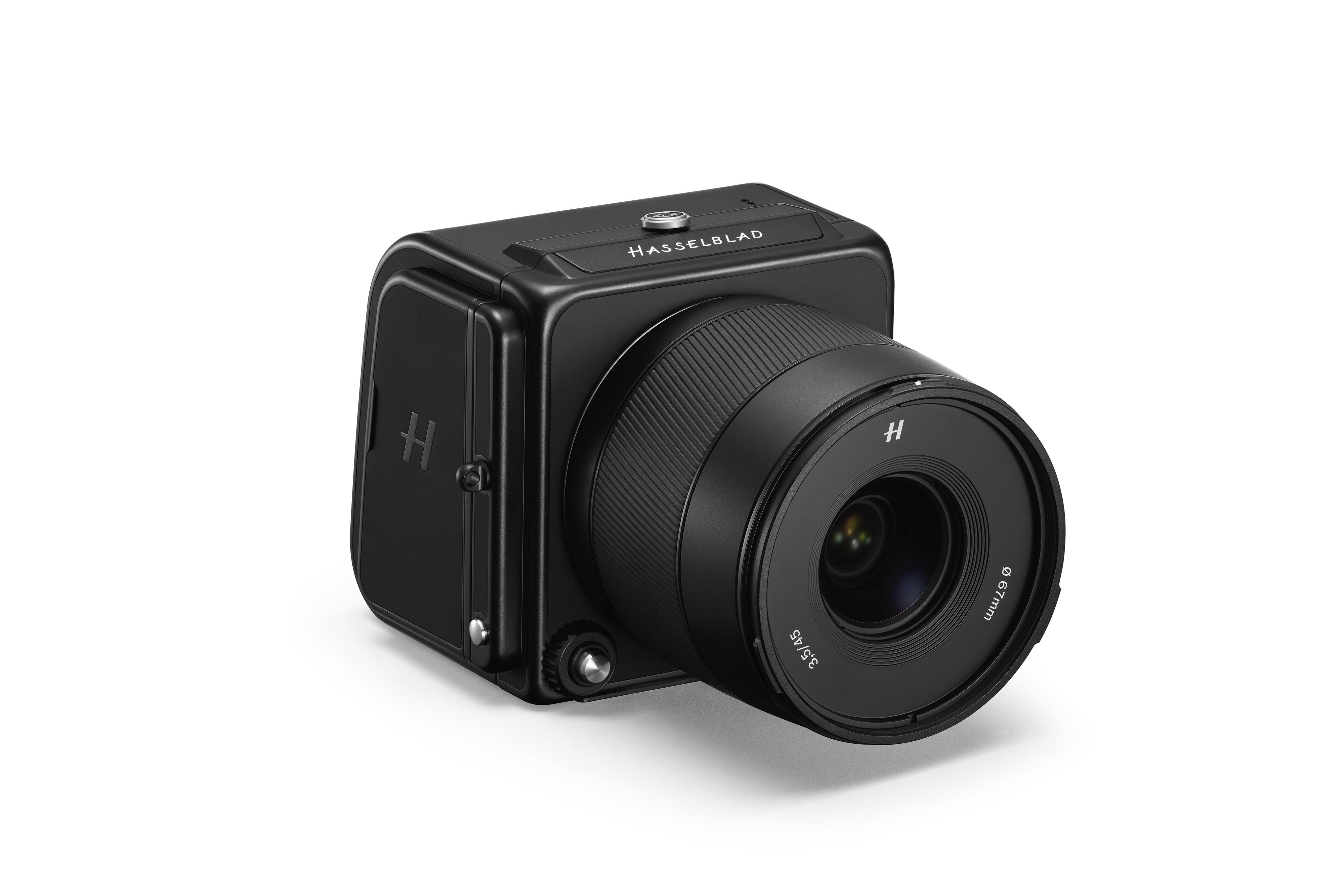 Känn och prova på olika Hasselblads-kameror.
